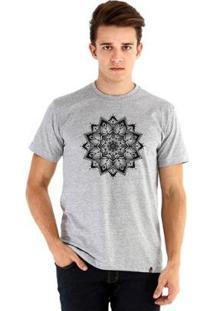 Camiseta Ouroboros Manga Curta Mandala Black - Masculino-Cinza