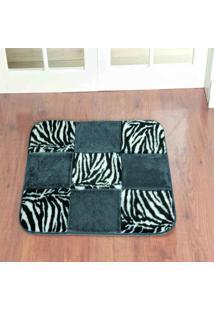Tapete Dourados Enxovais Retangular Patchwork Zebra