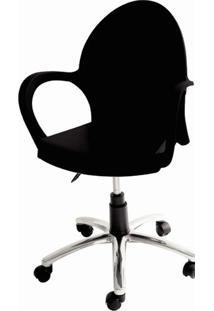 Cadeira Grace Com Rodizio Cor Preto - 20058 - Sun House