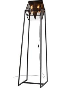 Luminaria De Chao Cena Estrutura Em Tubo De Ferro Cor Preto 1,95 Mt (Alt) - 46307 - Sun House