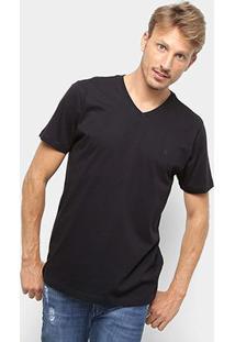 Camiseta Forum Básica Masculina - Masculino-Preto