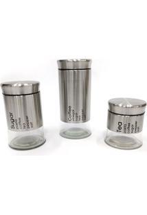 Conjunto De 3 Porta Condimento Will - Dolce Home - Cinza