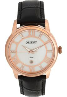 Relógio Orient Feminino Madrepérola Analógico Preto Frsc1006-B3Px