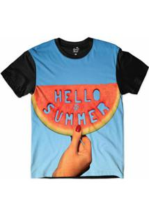 Camiseta Long Beach Olá Verão Sublimada Masculina - Masculino