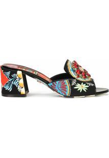 Dolce & Gabbana Sandália Com Aplicação Floral - Hh93D Frigo 14 Stampa