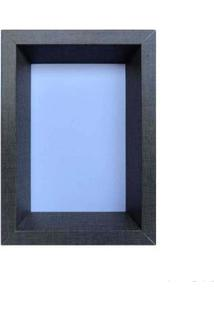 Porta Retrato 15X21Cm Bevel Cinza Infinity