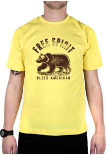 Camiseta Bleed American Free Spirit Amarelo