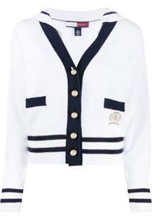 Tommy Hilfiger Sailor-Collar Cardigan - Branco