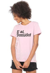 Camiseta Coca-Cola Jeans Sumido Rosa