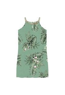Vestido Floral Plus Size Secret Verde