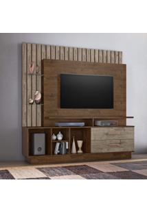 Estante Home Para Tv Até 65 Polegadas Fascinio Candian Jcm Móveis Cacau/Grigio