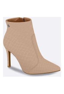 Bota Feminina Ankle Boot Textura Croco Vizzano