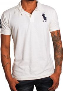 Camisa Polo Rockstar Cavalo Gran Off White