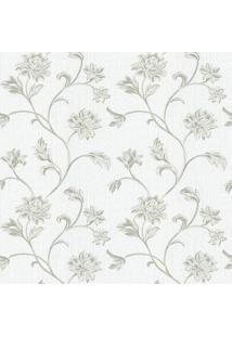 Papel De Parede Floral- Branco & Verde Militar- 1000Shark Metais