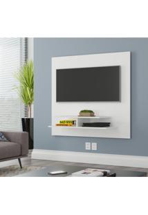 Painel Para Tv Até 40 Polegadas 1 Prateleira Mônaco Moderno Siena Móveis Branco