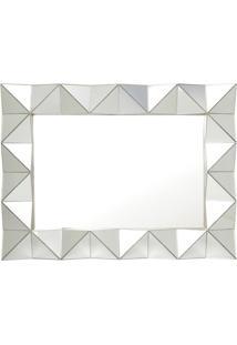 Espelho Retangular Para Pendurar - Espelhado & Prateado