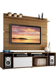 Rack Madesa Cancun E Painel Para Tv Atã© 65 Polegadas - Rustic/Rustic/Branco Marrom - Marrom - Dafiti