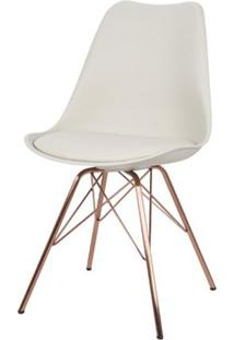 Cadeira Torre Eames Nude Com Almofada Base Cobre - 51095 - Sun House