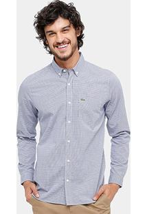 Camisa Xadrez Lacoste Slim Fit Masculina - Masculino