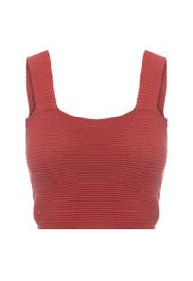 Blusa Feminina Cropped Ódeon - Vermelho