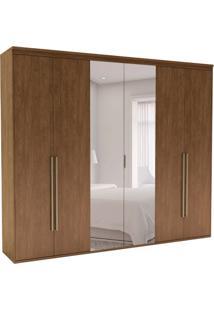 Guarda-Roupa Casal Com Espelho Originale 6 Pt 6 Gv Ébano 267 Cm