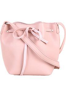 Zattini. Bolsa Rosa Feminina Shoestock Transversal Mini Bag Tiracolo Bucket  ... c464f227c2d
