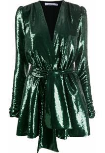 Amen Vestido Envelope Com Paetês - Verde