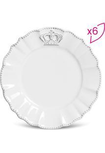 Jogo De Pratos Para Sobremesa Windsor- Branco- 6Pã§S