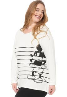Blusa Cativa Disney Plus Mickey Mouse Off-White