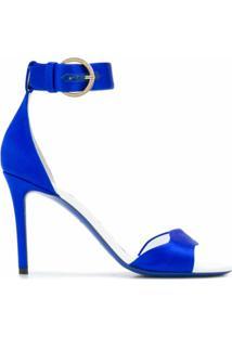 Emilio Pucci Sandália De Cetim - Azul