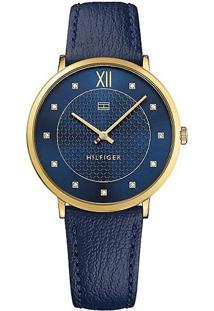 0e49145a564 ... Relógio Tommy Hilfiger Feminino Couro Azul - 1781807