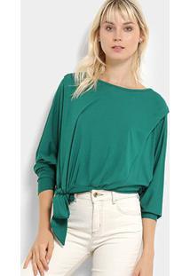 Blusa Colcci Amarração Feminina - Feminino-Verde