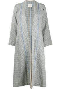 Forte Forte Cardigan De Tweed Com Abertura Frontal - Azul