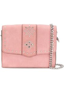 Rebecca Minkoff Studded Shoulder Bag - Rosa