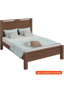 Cama Casal Royal Flex Imbuia E Off White