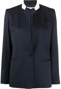 Stella Mccartney Blazer Azul Com Abotoamento Simples