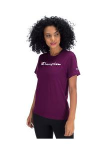 Camiseta Champion Clássica Y07418 - Feminina - Roxo