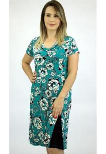 Vestido Pau A Pique Estampado Feminino - Feminino-Verde