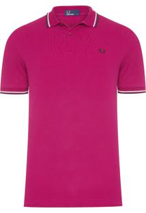 Polo Masculina Twin Tipped - Vinho