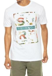Camiseta Masculina Nicoboco Slim Fit Flowers - Masculino
