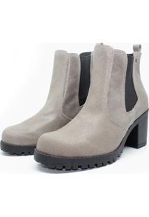 Bota Barth Shoes Bury Resina - Cinza - Cinza - Feminino - Dafiti
