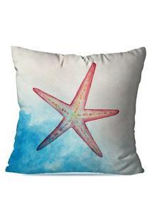 Capa De Almofada Avulsa Decorativas Estrela Do Mar 45X45Cm