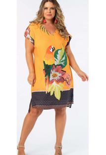 Vestido Almaria Plus Size Munny Curto Estampado Am