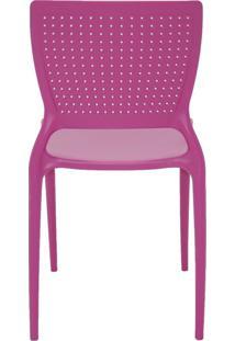 Cadeira Safira Em Polipropileno Tramontina Rosa