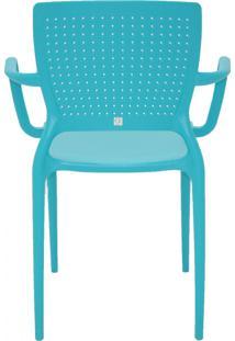 Cadeira Philo Polipropileno E Fibra De Vidro Azul Tramontina