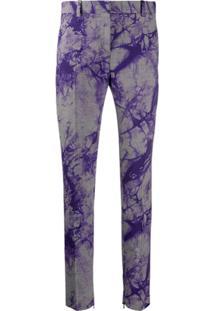Versace Calça Slim Xadrez Tie-Dye - Branco