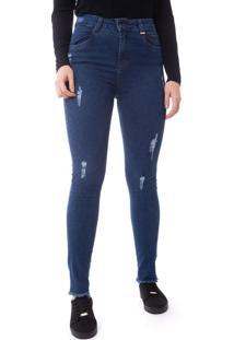 Calça Jeans Feminina Max Denim Skinny Azul - 40