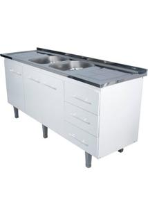 Gabinete De Cozinha Lyon 53X174,4Cm Branco Bonatto