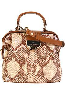 86588d6a5 ... Bolsa Couro Jorge Bischoff Mini Bag Estruturada Feminina - Feminino -Cobra