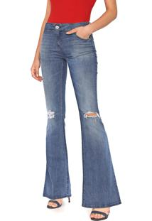 Calça Jeans Colcci Flare Fátima Azul